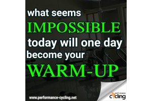 What seems impossible today will one day become your warm up