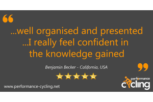 Performance Cycling Instructor Certification Review - Benjamin Becker - California