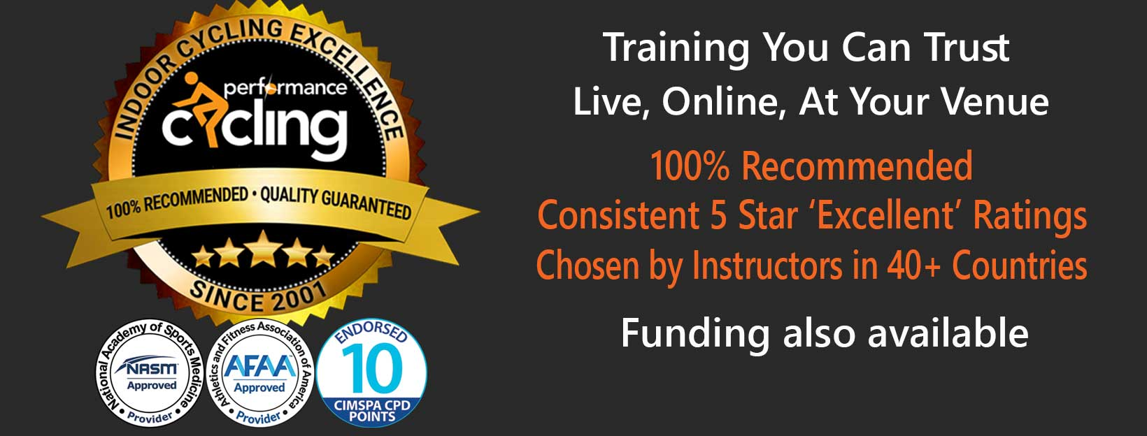 Performance Cycling - 100% recommended, UK and USA approved indoor cycling training