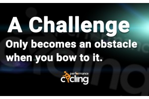 A challenge only becomes an obstacle when you bow to it